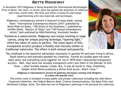 Bette Ridgeway - About the Artist