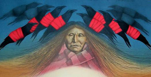 Crow Messenger - Lithograph 1984