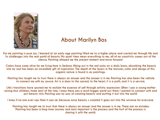 Marilyn Bos - About the Artist